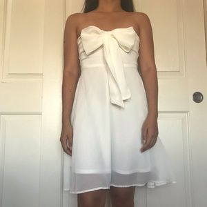 LA Hearts PacSun White Strapless Dress